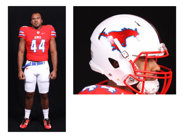 Current SMU football Uniform Designs Photo credit: SMU Football Public Relations Dept.