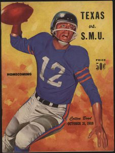 Texas vs. SMU Homecoming Poster in 1959 Photo credit: SMU DeGoyler Library