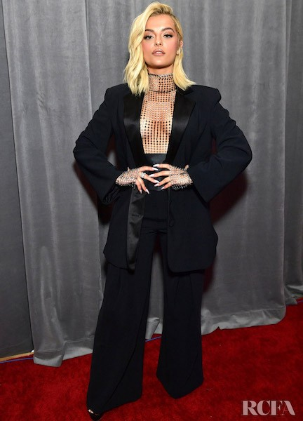 Bebe Rexha at 62nd grammy awards red carpet