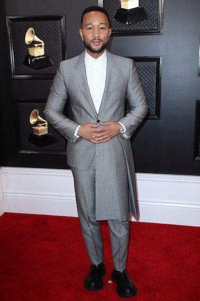 John Legend at 62nd grammy awards red carpet Mandatory Credit: Photo by Matt Baron/Shutterstock (10532336ky) John Legend 62nd Annual Grammy Awards, Arrivals, Los Angeles, USA - 26 Jan 2020