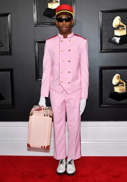 Tyler the Creator at 62nd grammy awards red carpet
