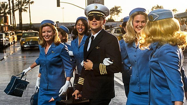 Leonardo Dicaprio as conman Frank Abagnale Jr. during his tenure as a pilot.