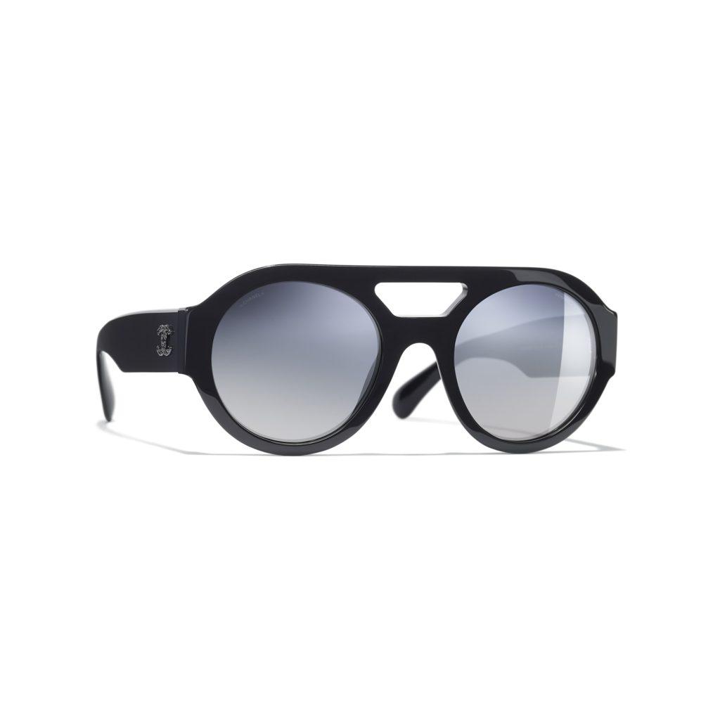 Chanel round sunglasses; $575, chanel.com