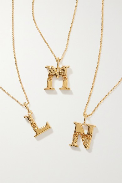 Alphabet gold-tone necklaces from Chloé ($390)