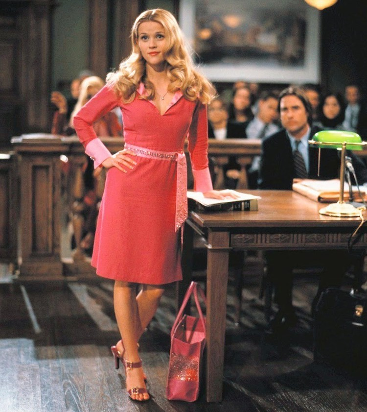 Elle Woods (Reese Witherspoon) holds court in one of her most iconic outfits.