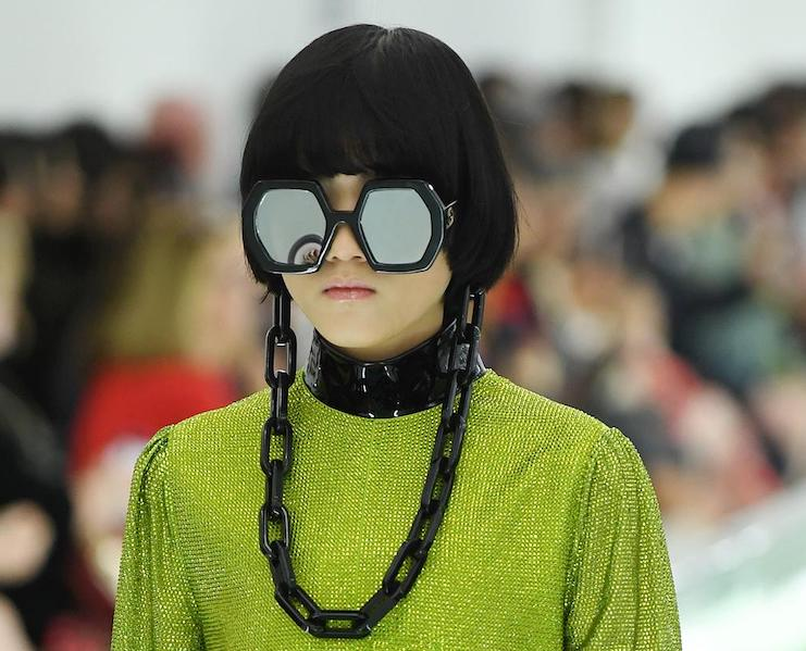 Eyewear chains from Gucci's Spring/Summer 2020
