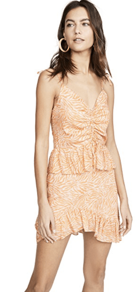 Suboo Orange Zebra Mini Dress