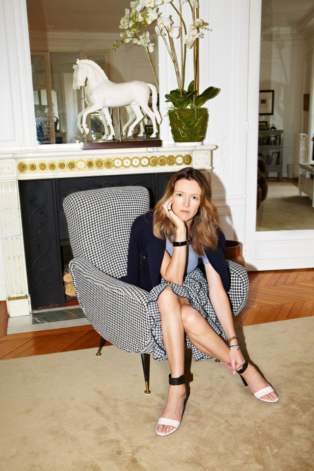 Clare Waight Keller in her Parisian apartment.