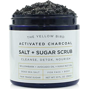 Yellow Bird Charcoal Salt + Sugar Scrub, $14.99, yellowbird.co