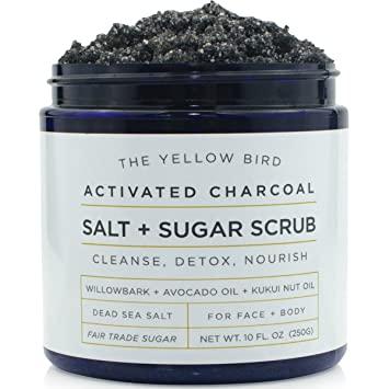 Yellow Bird Charcoal Salt + Sugar Scrub, $14.99, yellowbird.co