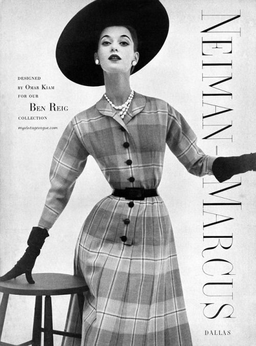 Barbara Muller models for a Neiman Marcus 1952 ad campaign.