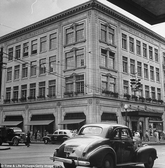 The original Neiman Marcus store located on Preston Road in Dallas, Texas. The building has since been registered as a Texas historical building.