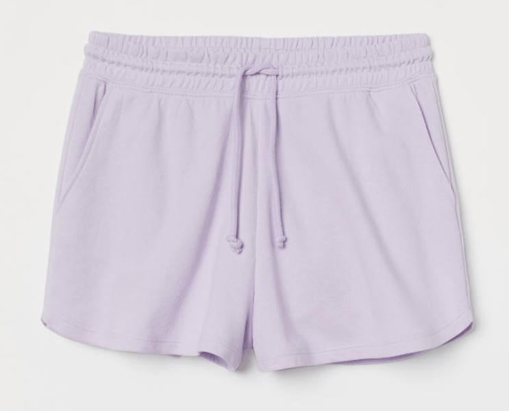 H&M Purple High-Waisted Sweatshorts ($12.99)