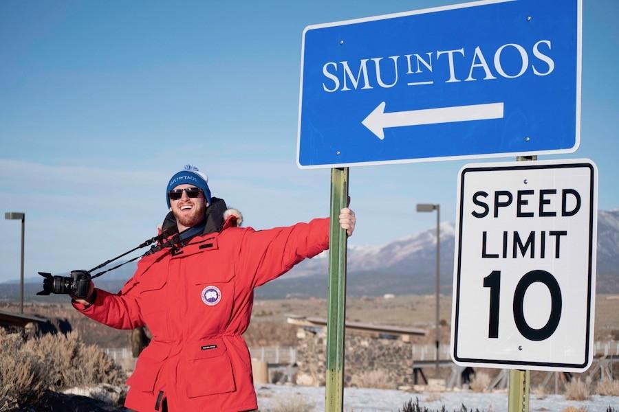 Jack posing in SMU in Taos