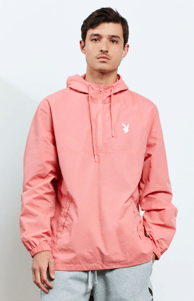 Playboy By PacSun Logo Anorak in Coral from Pacsun ($60)