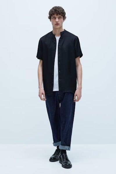 FLOWY SHORT SLEEVE SHIRT from Zara ($39.90)
