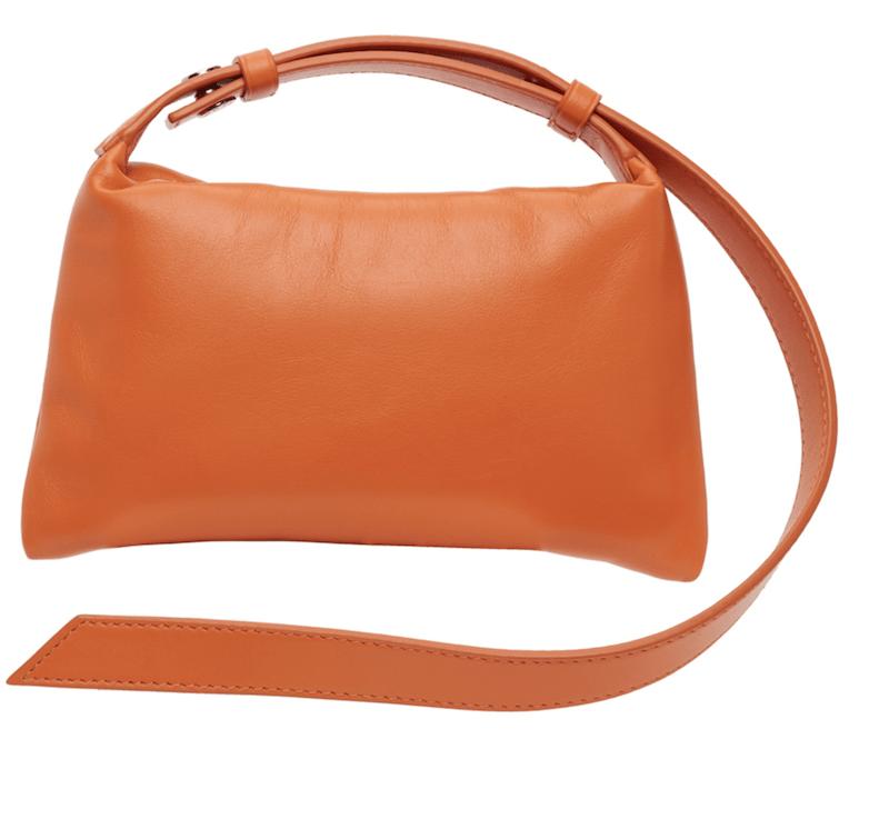 SIMON MILLER - Orange Mini Puffin Bag $290