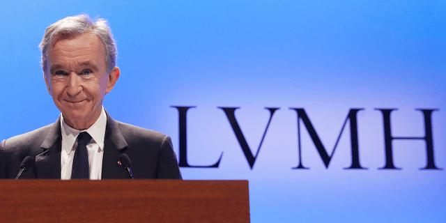 The world's 4th richest man and LVMH's Chief Executive, Bernard Arnault, at an LVMH investor presentation.