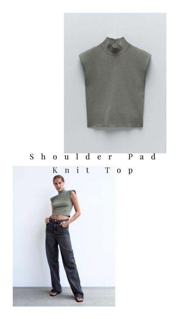 Shoulder Pad Knit Top = $29.90