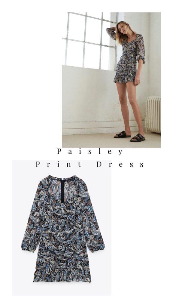 Paisley Print Dress = $49.90