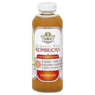 GT's Organic Raw Kombucha, Gingerade