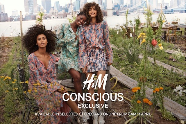 H&M's Conscious Collection ad campaign for Spring/Summer of 2020.