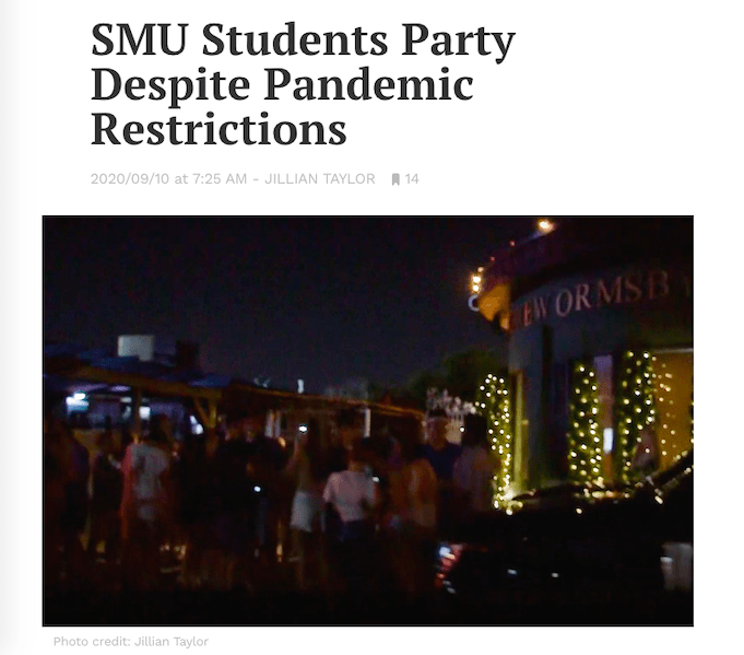 SMU Daily Campus covered an off-campus party at Republic Ranch.