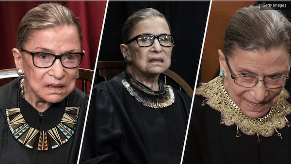 Justice RBG liked to bring a little fashion and flare to her Supreme Court look, she has a huge collection of many different collars!