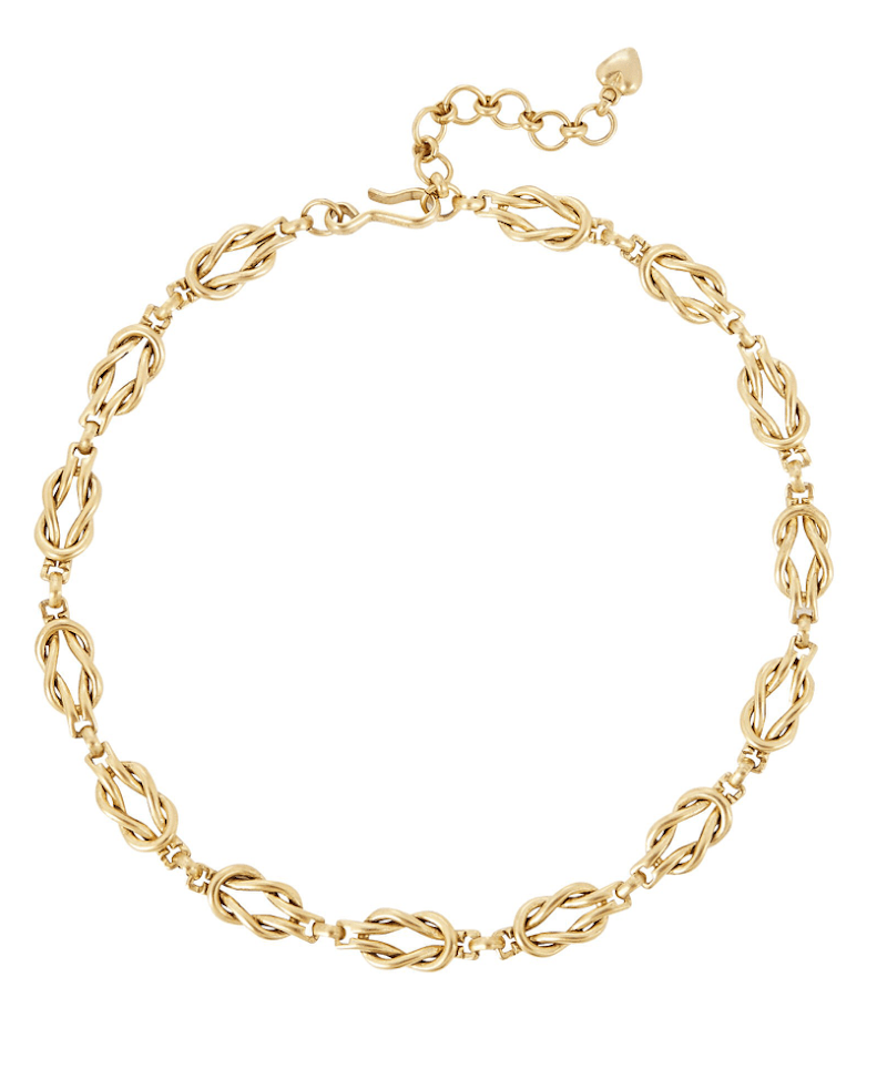 Brinker & Eliza Love Knot Chain-Link Necklace - $138