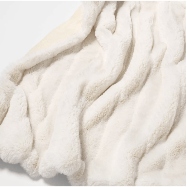 Faux fur throw from Target
