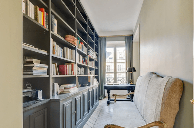 The perfect library, tucked away from the main living area.