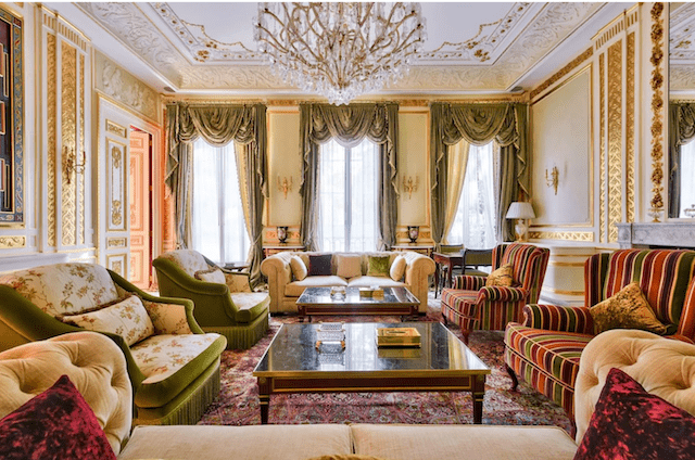 Louis XIV would have fit perfectly in this opulent living room.