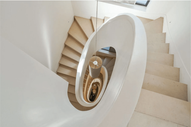 A staircase worthy of Architectural Digest.