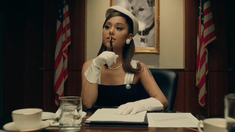 Grande in the video's first scene.