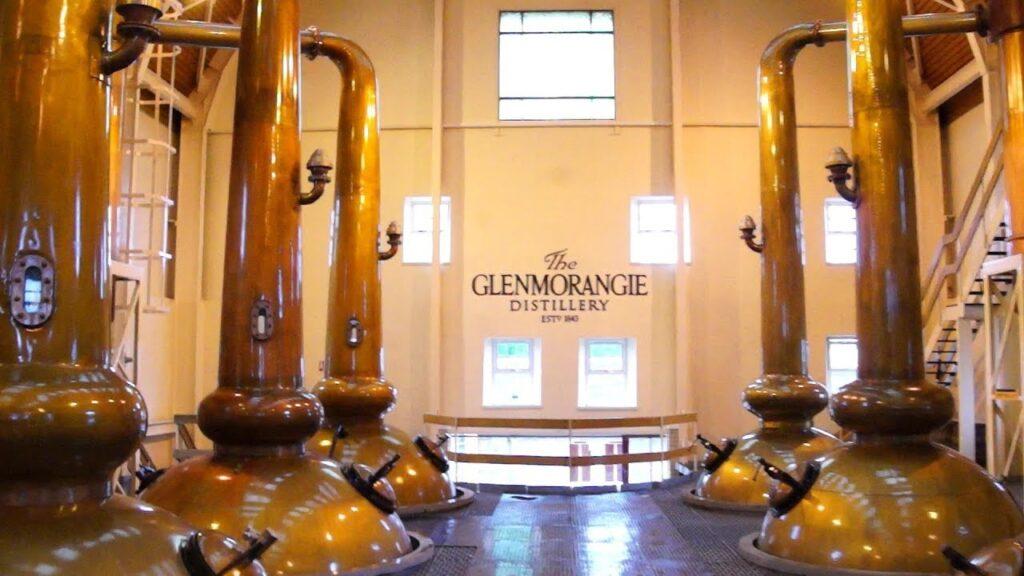 Glenmorangie distillery in Scotland.