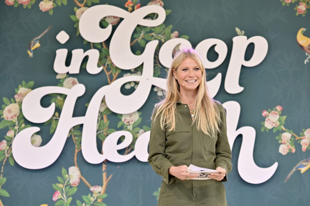 "Gwenyth Paltrow at the most recent ""In Goop Health"" summit, 2019."