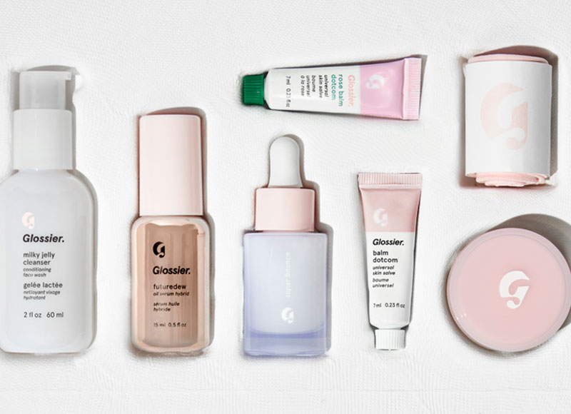 The Skincare Edit features Glossier's best products.