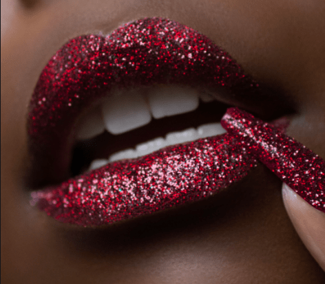 The Glitter Lip Kit in Vamp.