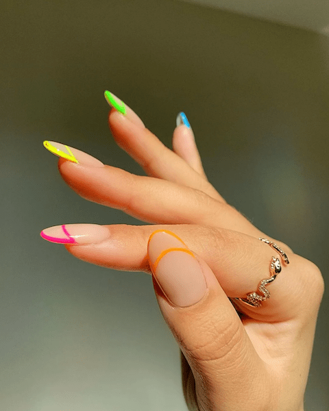 The Updated French Manicure (Extravagant)