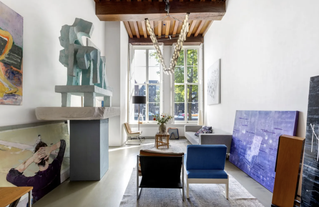 Floor-to-ceiling windows and ancient wooden beams--what more could one want?