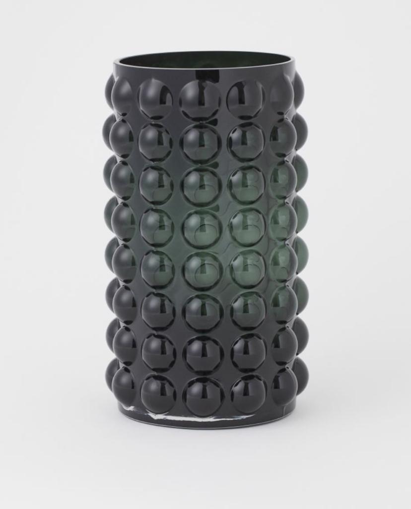Textured Glass Vase (24.99)