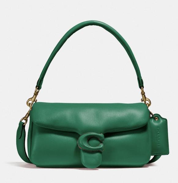Brass/Green Pillow Tabby Shoulder Bag 26 - $495
