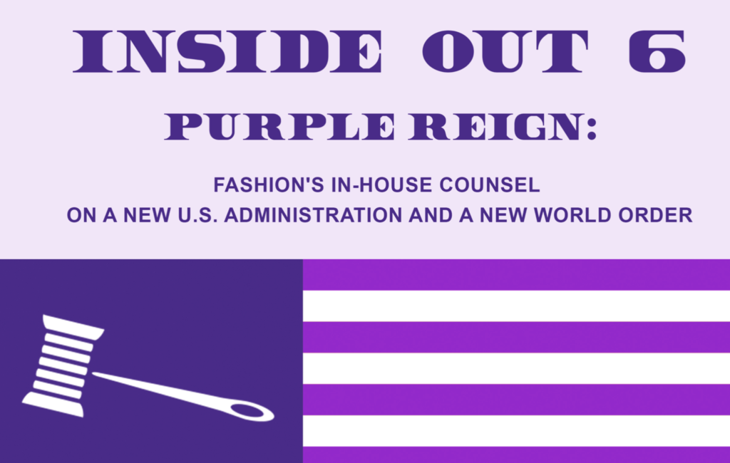 The cover of the Fashion Law Institute's 6th Annual Inside-Out Symposium.