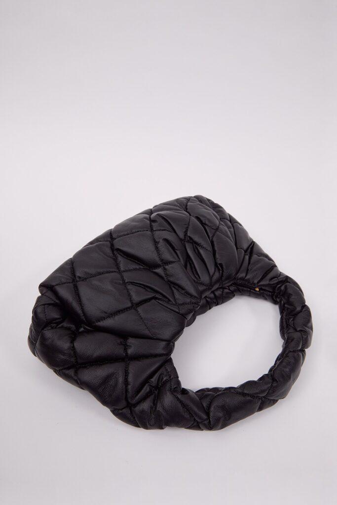 Cushioned Baguette Bag, Black ($69)