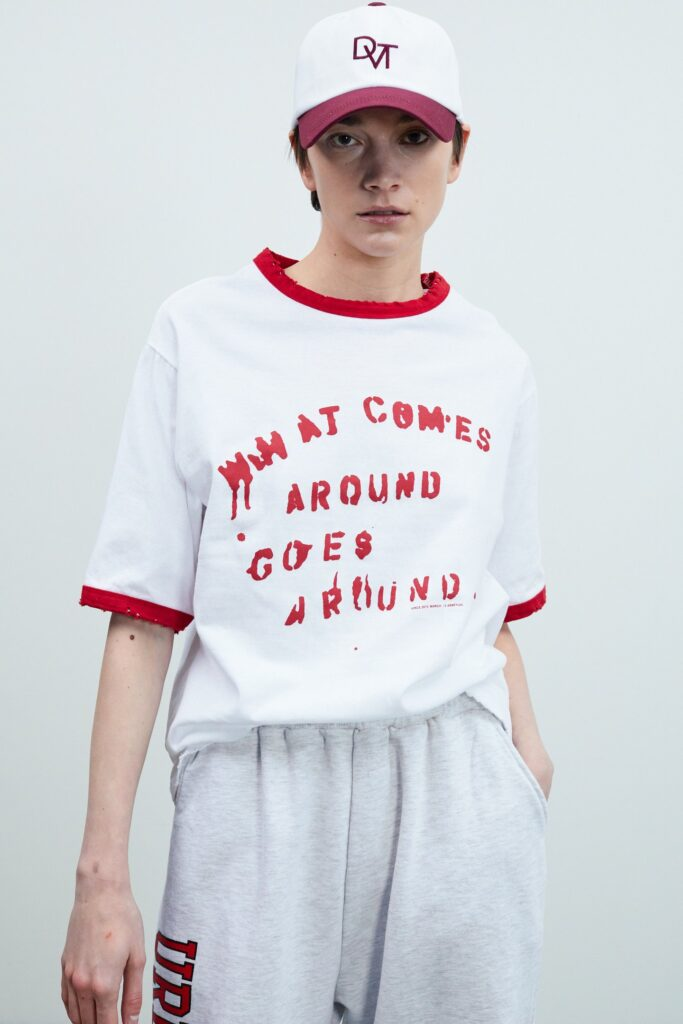 Vintage Contrast T-Shirt, Tomato Red ($42)