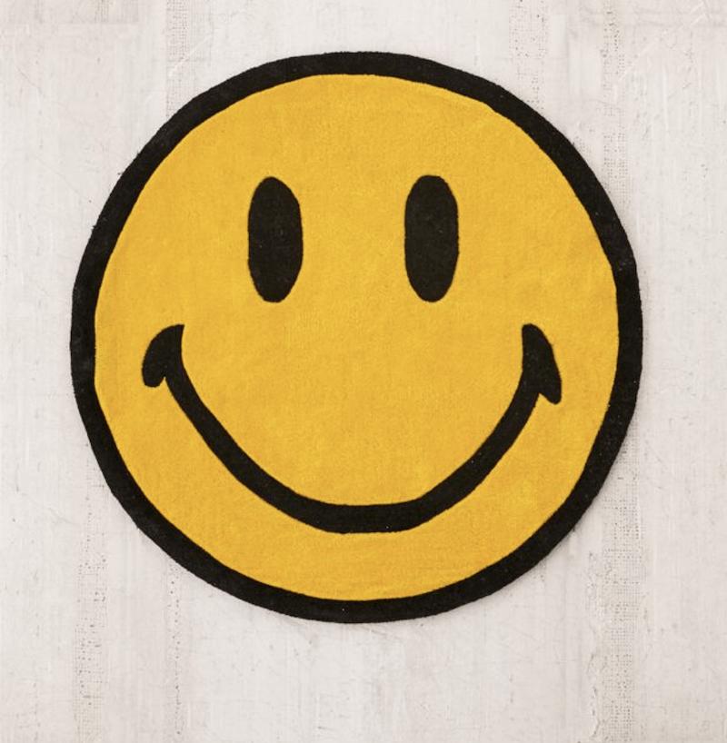 Chinatown Market X Smiley UO Exclusive Smiley Plush Rug ($169)