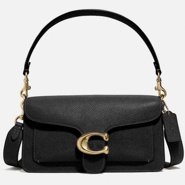 Brass/Black Tabby Shoulder Bag 26 - $395
