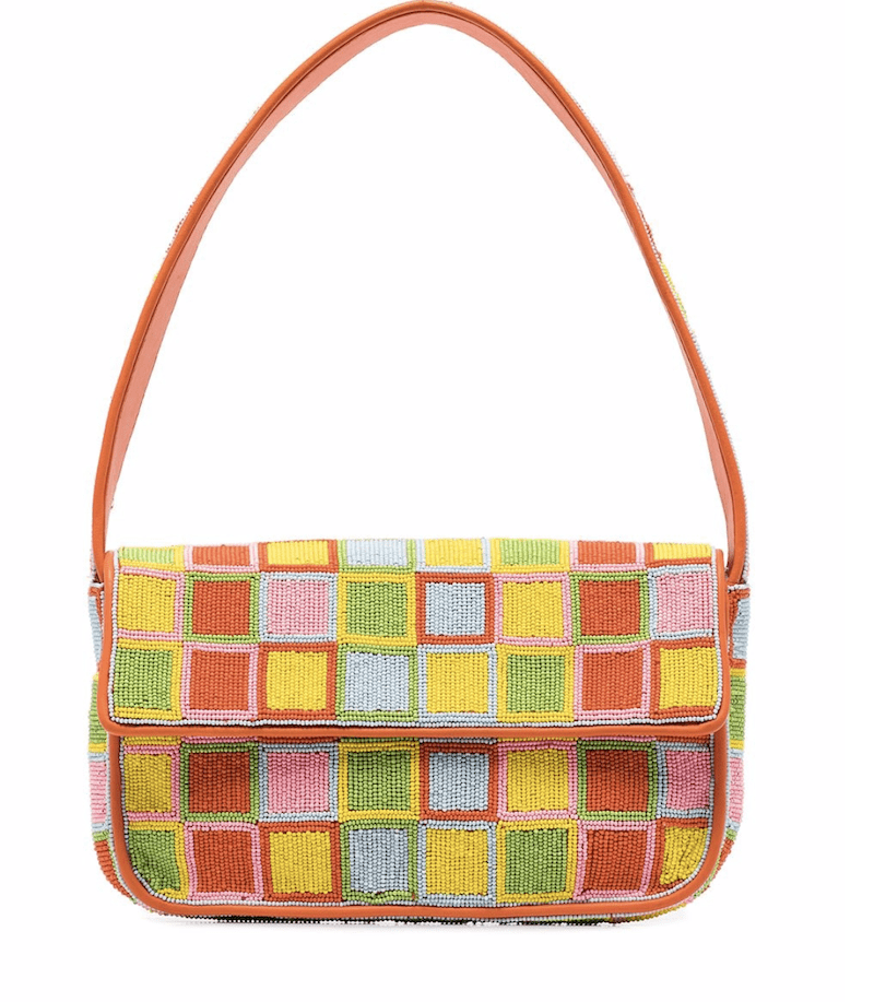Staud Multicolored Tommy Beaded Shoulder Bag - $250