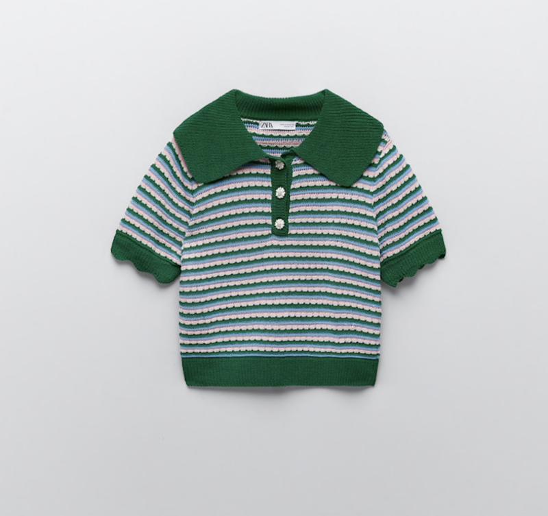 Zara Jewel Button Knit Polo ($39.90)