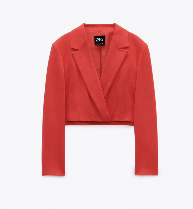 Zara Linen Blend Cropped Blazer ($49.90)